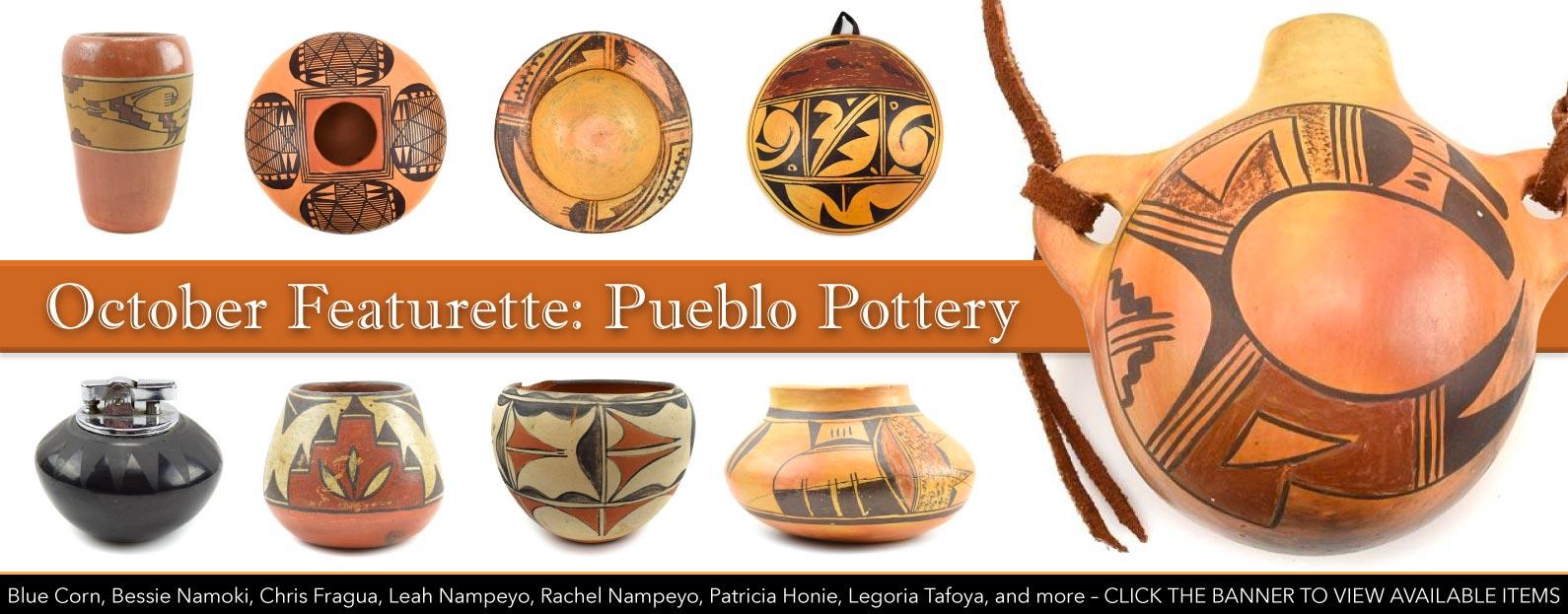 October Featurette: Pueblo Pottery