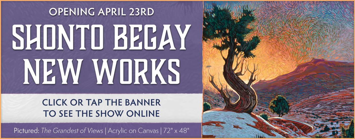 Shonto Begay New Works Opening April 23rd