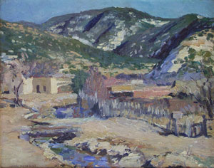 "Charles Berninghaus, New Mexico Scene, Oil on Canvas, Circa 1940, 16"" x 20"""