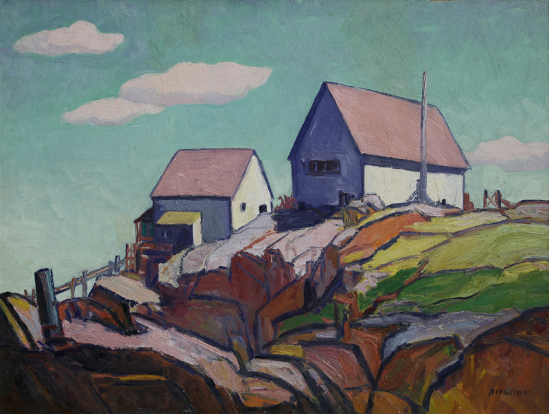 "Emil Bisttram, Top of the Hill, Circa 1940-50, Oil on Board, 25"" x 33"""