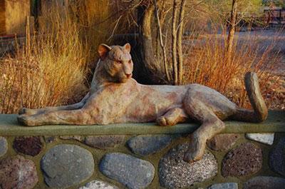 "Star Liana York, Cat Call, Monumental Bronze, 21.5"" x 67"" x 25"""