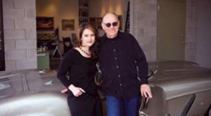 Mell and his wife Rose Marie at one of his art openings.