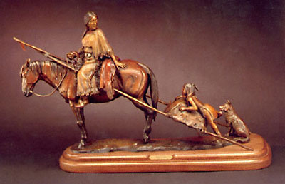 """Susan Kliewer, Moving Camp, Bronze Edition of 45, 36"""" x 12"""" x 21"""""""