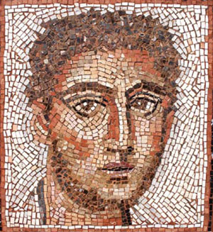 """The haunting eyes of Anne's """"Man of Fayum"""" follow you out the door."""