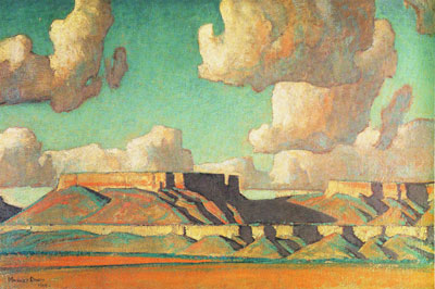 "Maynard Dixon, Remembrance of Tusayan No. 2, Oil on Canvas, 1923, 20"" x 30"""