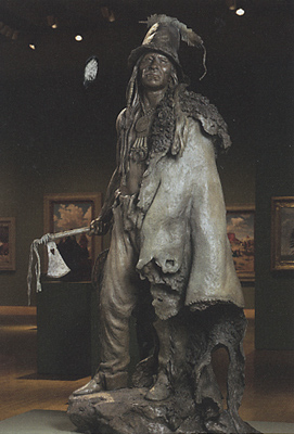 John Coleman, Explorer Artists Bodmer-Catlin Series: Addih-Hiddisch, Hidatsa Chief,  Bronze Edition of 9, Collection of Phoenix Art Museum, Gift of Western Art Associates.  Available for sale at Mark Sublette Medicine Man Gallery