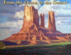 """Ray Roberts, Monument Valley, Oil on Board, 25"""" x 30"""""""
