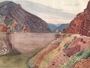 """Ernest Blumenschein, Apache Trail Arizona, Watercolor on Paper, Circa 1920, 10"""" x 12"""""""