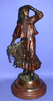 """Susan Kliewer, Apache Autumn, Bronze Edition of 45, 22"""" x 10"""" x 7"""""""