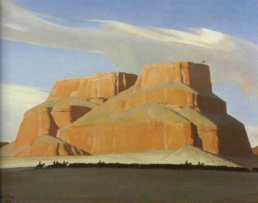 "Maynard Dixon (1875-1946), Canyon del Muerto-Coronado Rock, oil on canvas, 25""x30"", signed lower left and dated ""Oct. 1923."""