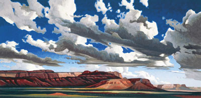 "Ed Mell, Vermillion Cliffs , Oil on Canvas, 20"" x 40"""