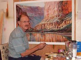 Merrill Mahaffey in his studio.