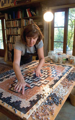 Anne's mosaics are evolving in new directions, like Navajo designs.