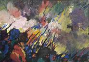 "Maynard Dixon (1875-1946) Nvorczk  Top: Russian War, Gouache, 3"" x 5.25""  Bottom: War in Russia, Gouache, 9.74"" x 14"""