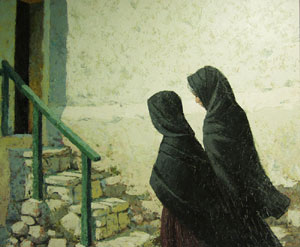 "Jack Dudley, Las Sombras, Porgugal, Oil on Panel, Circa 1969, 20"" x 24"""