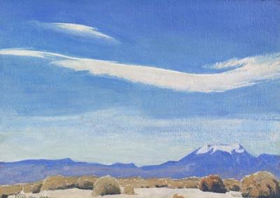 "Maynard Dixon, The Cloud, Coachella Valley, California, Circa 1940, Oil on Board, 10"" x 14"""