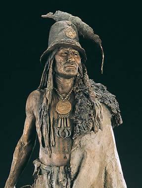 John Coleman, Explorer Artists Bodmer-Catlin Series: Addih-Hiddisch, Hidatsa Chief, close-up image