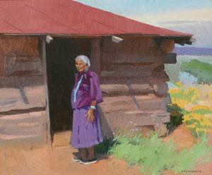 "Ray Roberts, Matriarck, Oil on Canvas, 20"" x 24"""