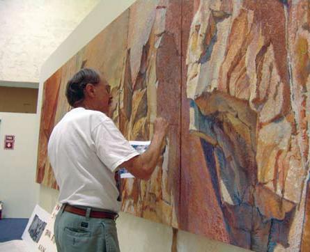 Merrill Mahaffey in his studio