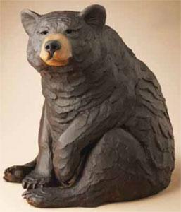 """Star Liana York, Watch Bear, Bronze, 17"""" x 12"""" x 13"""""""
