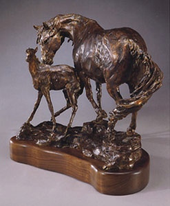 Jan Mapes, Itchin' Post, Bronze Edition 15, 15