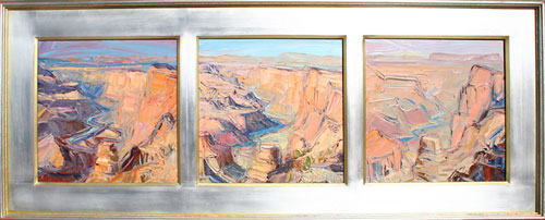 Louisa McElwain, Desert View: Afternoon Sundown, Afternoon, Flat Time  Oil on Linen, 14