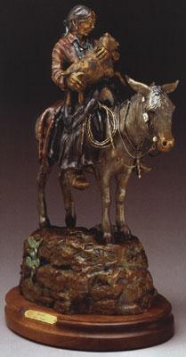 """Susan Kliewer, Ama'Sa'ni (Navajo for grandmother) Bronze Edition of 45, 20"""" x 13"""" x 8"""""""