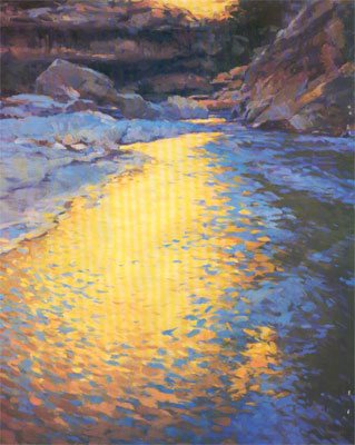 Gregory Hull, Paria Reflection, 1996, Oil, 50 x 40, Private Collection