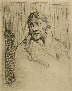 "Gerald Cassidy, Indian Portrait, Etching, Circa 1920-30, 2.75"" x 2.125"""