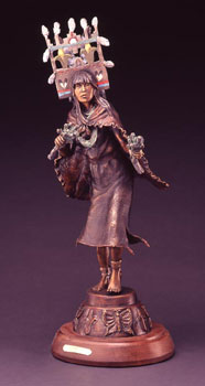 """Susan Kliewer, Hopi Butterfly Girl, Bronze Edition of 45, 28"""" x 8"""" x 7"""""""