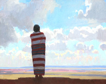 "Ray Roberts, Mesa Solitude, Oil on Canvas, 24"" x 30"""