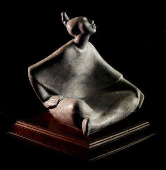 "Shirley Thomson-Smith, Madaya, Bronze Edition of 35, 14"" x 10"" x 10"""