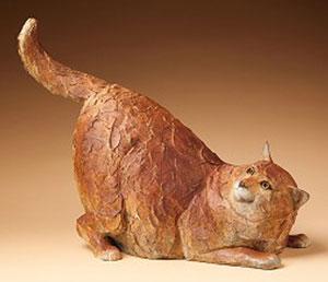 """Star Liana York, Fat Cat, Bronze, 16"""" x 21.5"""" x 10"""""""