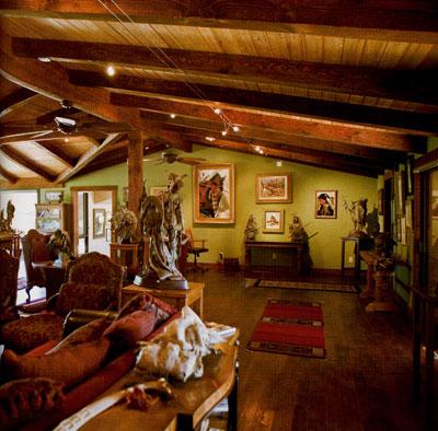 Coleman's roomy studio overlooks the beautiful town of Prescott, Arizona.