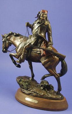 "Susan Kliewer, Geronimo, Bronze Edition of 45, 20"" x 15"" x 6.5"""