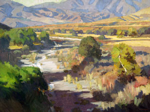"Ray Roberts, San Juan Creek, CA, Oil on Canvas, 30"" x 40"""