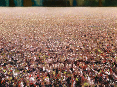 "Gary Ernest Smith, Field Texture, oil on linen, 30"" x 40"""