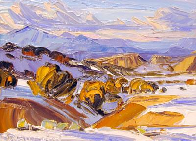 "Louisa McElwain, Arroyo de la Barrancos, Oil on Canvas, 12"" x 16"""
