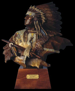 Oreland Joe, Blackfeet Ritual, Bronze, 16.5