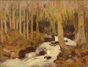 """Eanger Irving Couse, Aspen, Oil on Canvas Board, 9"""" x 11"""""""