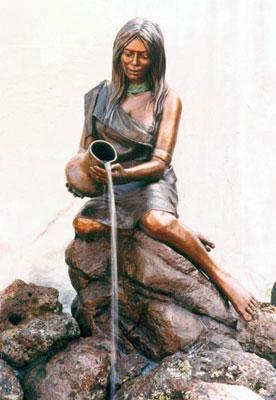 "Susan Kliewer, Hopi Water Maiden, Bronze Edition of 15, 55"" x 43"" x 36"""