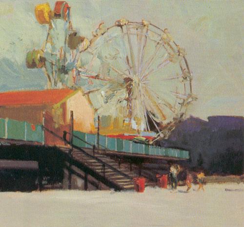 """Francis Livingston, Dual Wheels, oil, 14""""x22"""""""