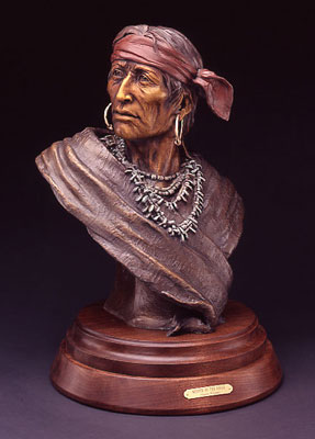 """Susan Kliewer, Keeper of the Eagle, Bronze Edition of 45, 24"""" x 14"""" x 12"""""""