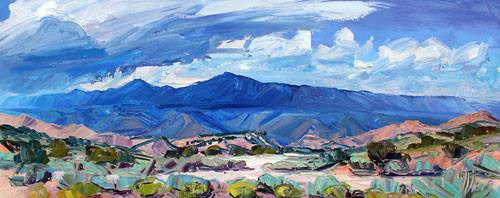 "Louisa McElwain, August Arroyo, Oil on Canvas, 28"" x 68"""