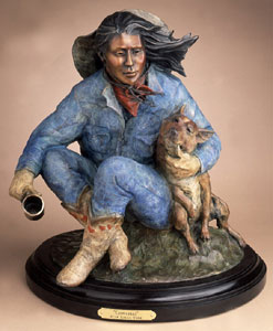 "Star Liana York, Cowgirls, Bronze, 17"" x 14"" x 12"""