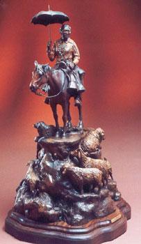 """Susan Kliewer, La Sombrilla, Bronze Edition of 45, 31"""" x 19"""" x 20"""""""