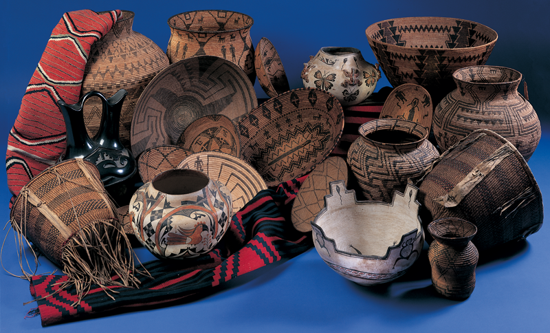 Fine Native American Pottery, Baskets, and Textiles