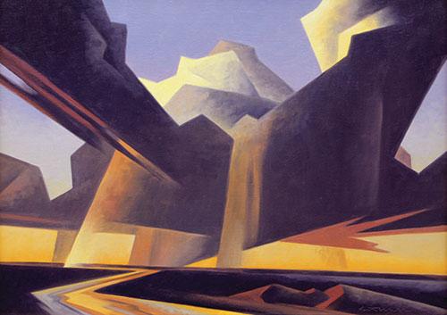 """Ed Mell (b.1942), Separating Storm, 2011, oil on linen, 18""""x24"""""""