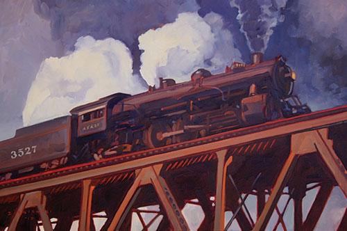 "Dennis Ziemienski (b.1947), Power of the Chief, 2010, oil on canvas, 20x30"""