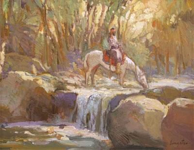 "Francis Livingston, Beaver Creek Waters, Oil on Panel, 11"" x 14"""